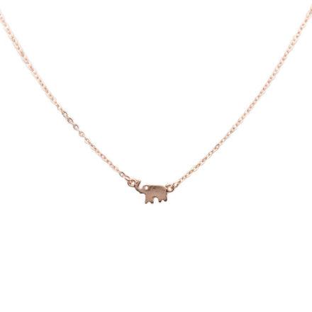 Rose Gold Elephant Necklace