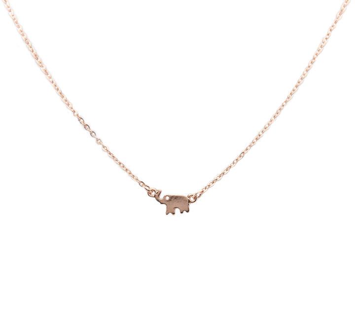 Rose gold elephant necklace superior jewelry rose gold elephant necklace aloadofball Choice Image