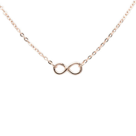 Rose Gold Infinity Necklace