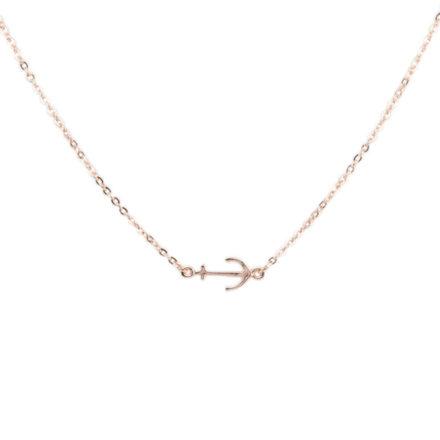 U-2845 Rose Gold Anchor Necklace